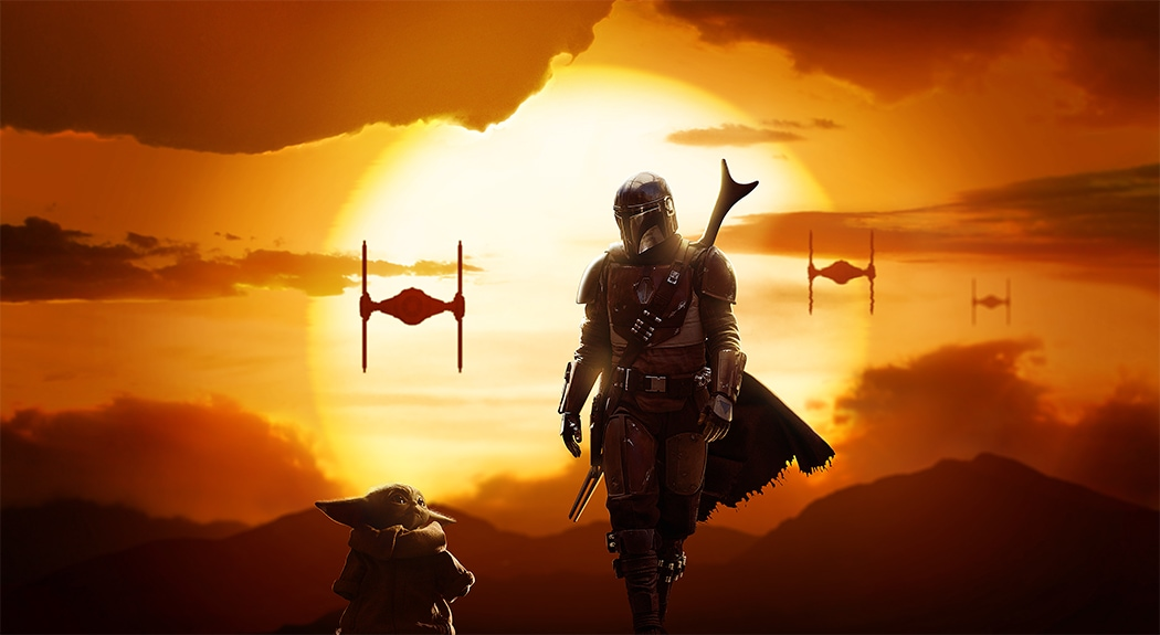 The Mandalorian: Create a Sunset Scene Using Stock Images